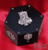 Art Nouveau Muse Hexagon Box by Valerian