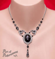 Nocturne Rhinestone Necklace by Valerian