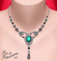 Absinthe Rhinestone Necklace by Valerian