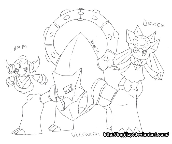 volcanion coloring page coloring pages