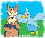 Duck Hunt Herdier and Ducklett Colored
