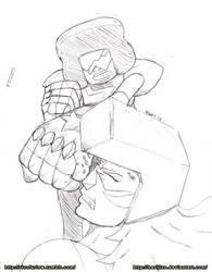 Garnet Vs Jasper Sketch by Harijizo
