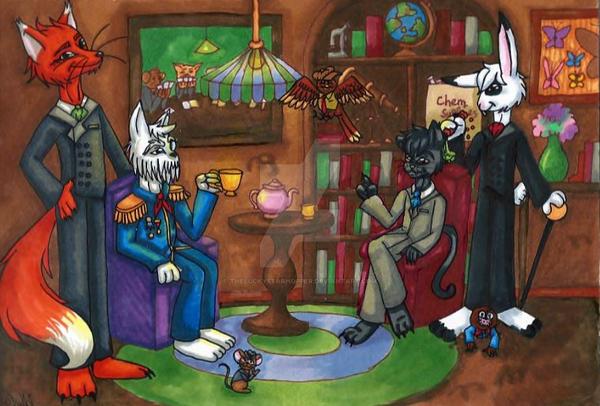 The Gentlemans Club Of Animals by TheLuckyStarhopper