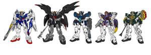 Gundam Wing colour by Deadman0087