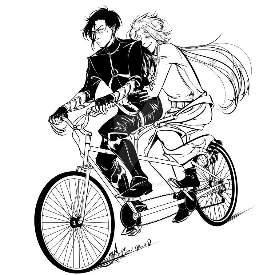 Commission: 2 Idiots 1 Bike by kanzeNatsume