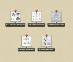 Vector icons and UI for your projects by okidoci