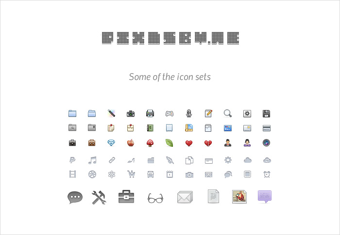 Get 700 Glyphs and Icons by okidoci