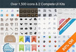 Collection of Over 1,500 Icons and 2 UI