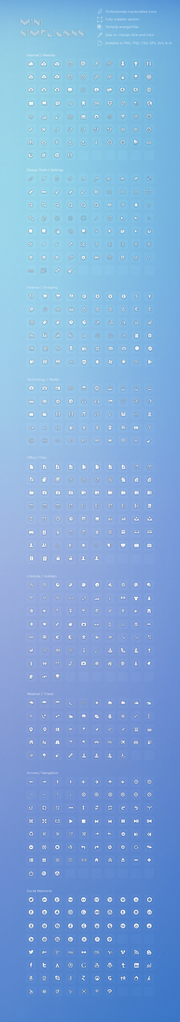 600+Mini Simplicons Icon Set by okidoci