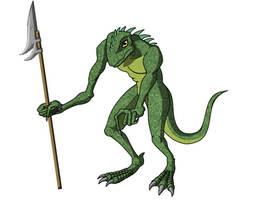 Lizard Spearman by CaptScott