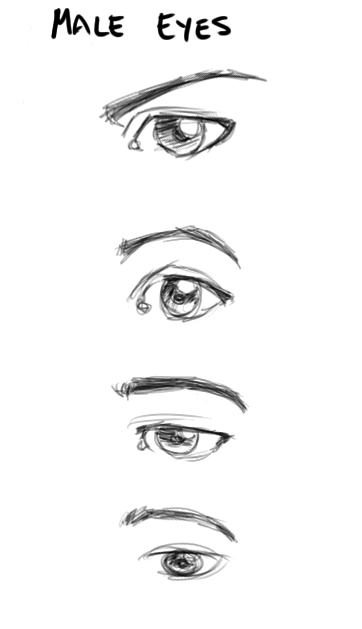Male Eyes By CaptScott