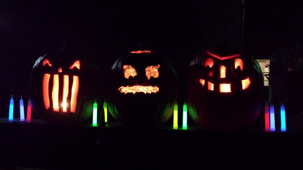 Pumpkin patch of hell carvings by CODO912