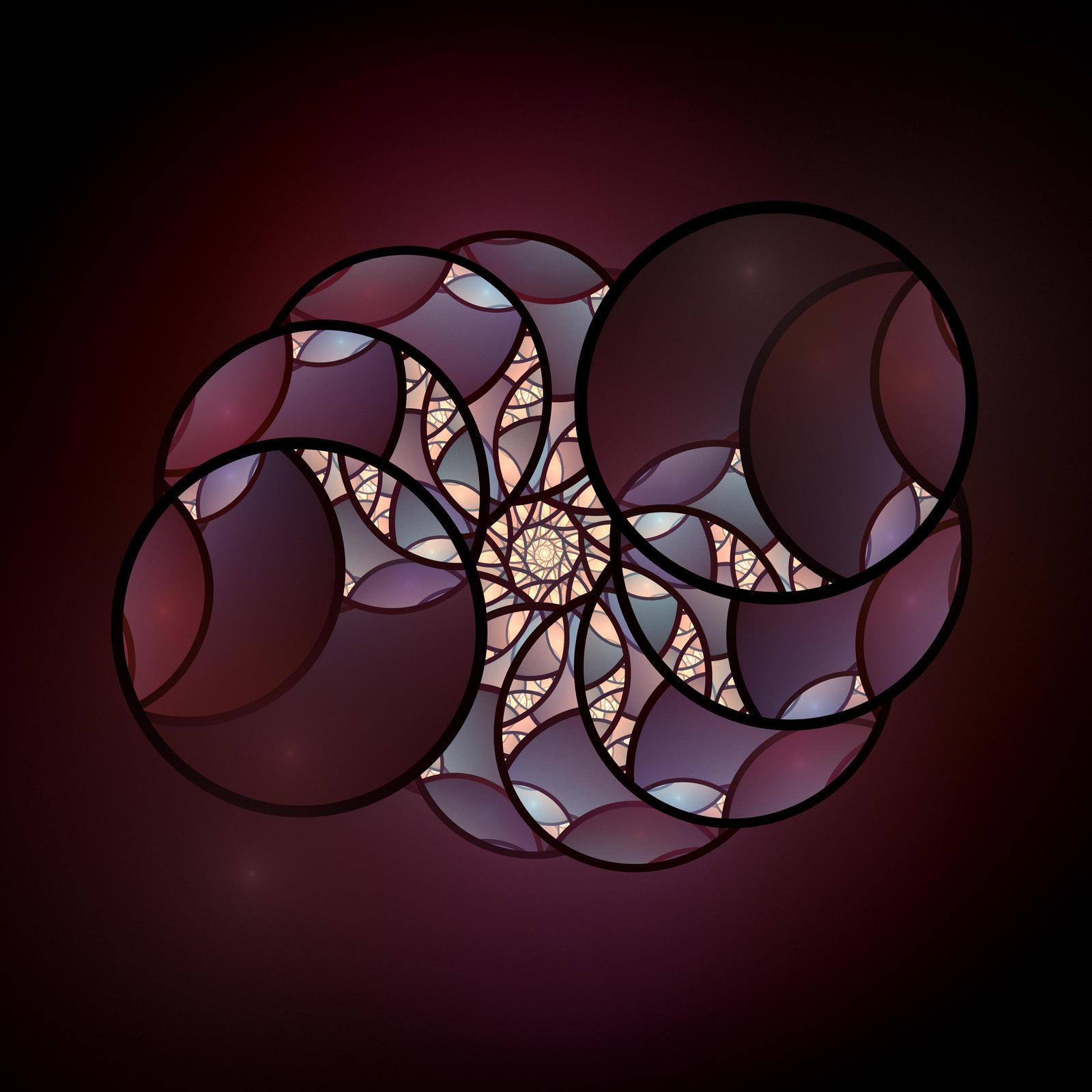 Maroon Circles by DeepChrome