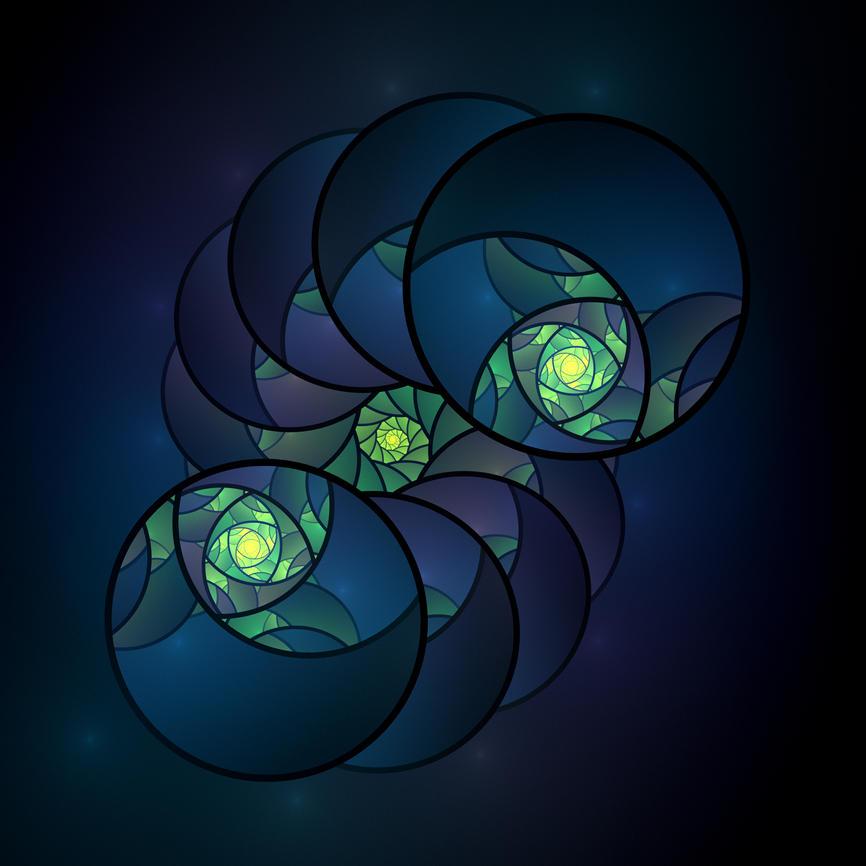 Teal Circles by DeepChrome