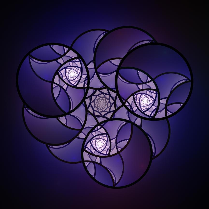 Indigo Circles by DeepChrome