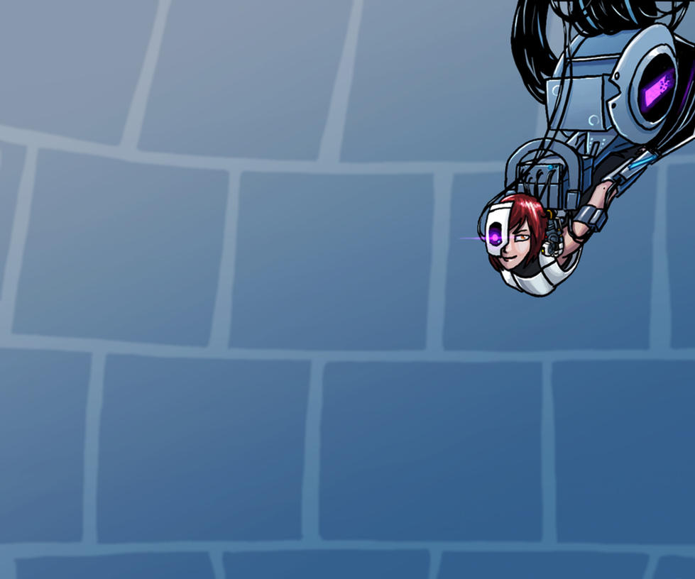 Wallpaper - Ask A GLaDOS Fangirl by DeepChrome