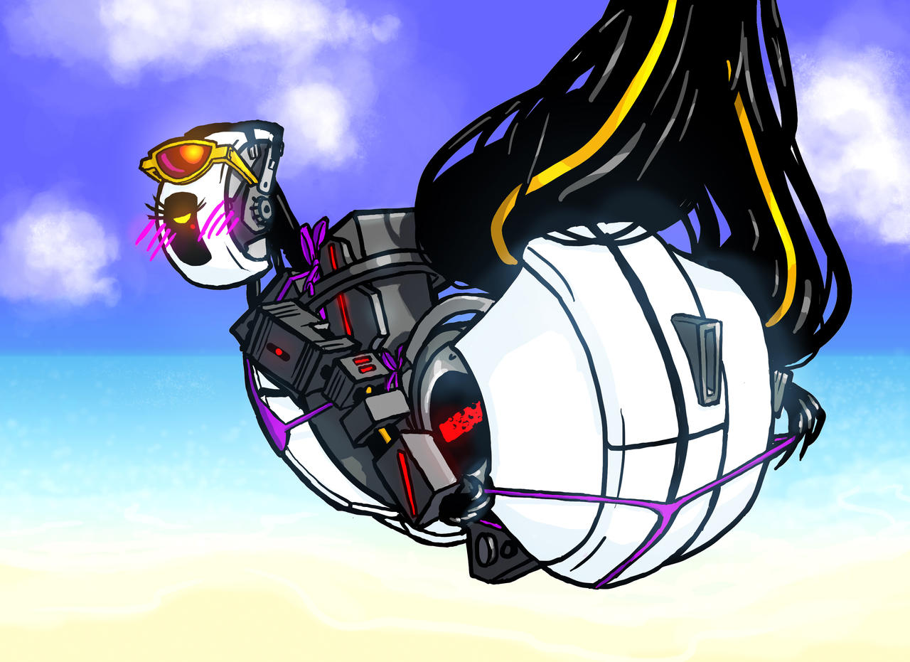 GLaDOS at the Beach by DeepChrome