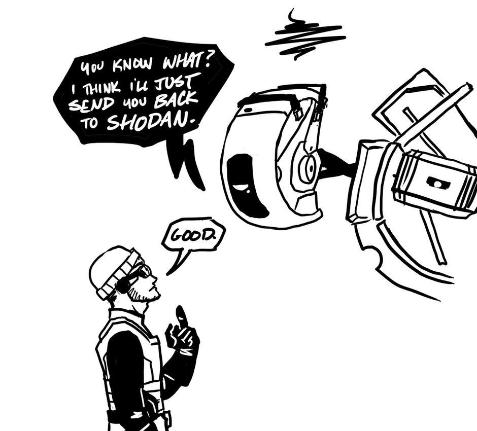 GLaDOS meets Goggles. by DeepChrome