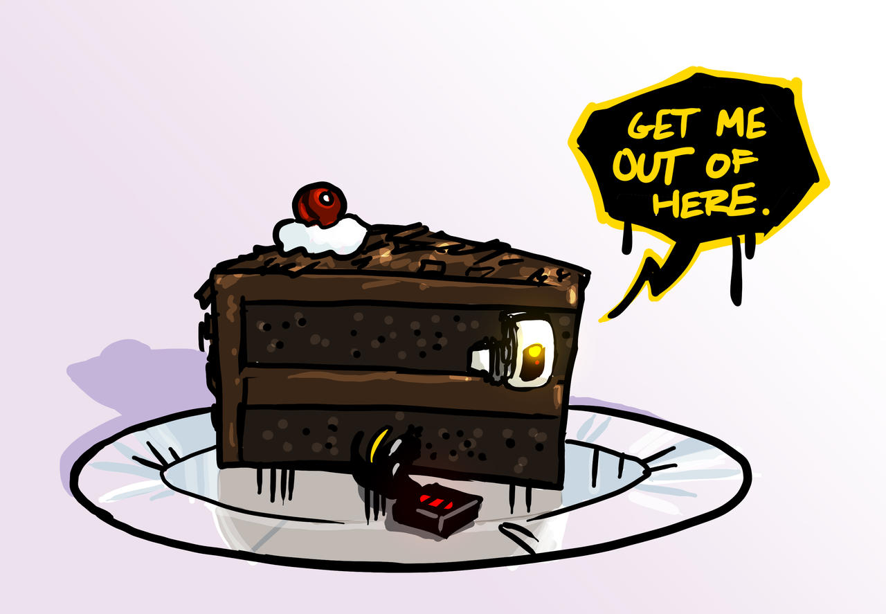 MicroDOS Stuck In a Cake by DeepChrome