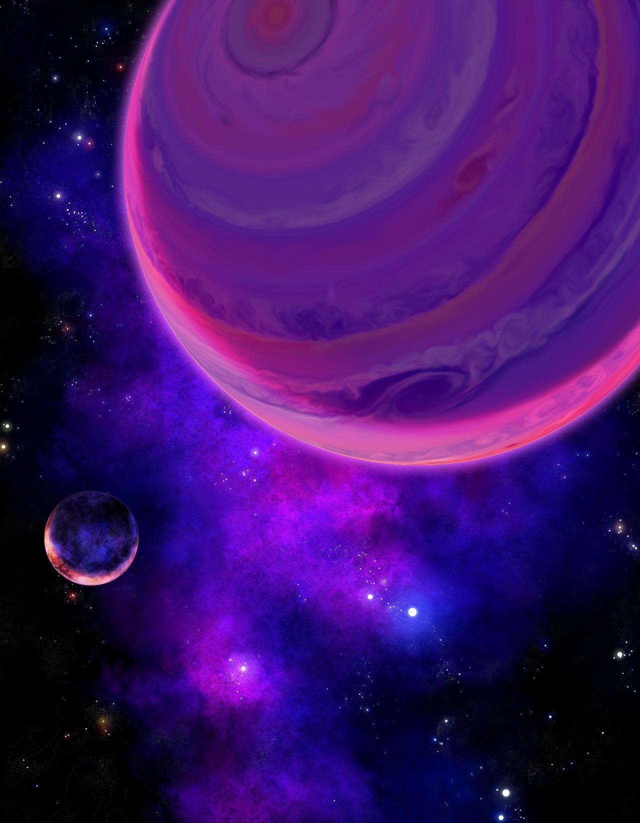 Purple Spacescape by DeepChrome