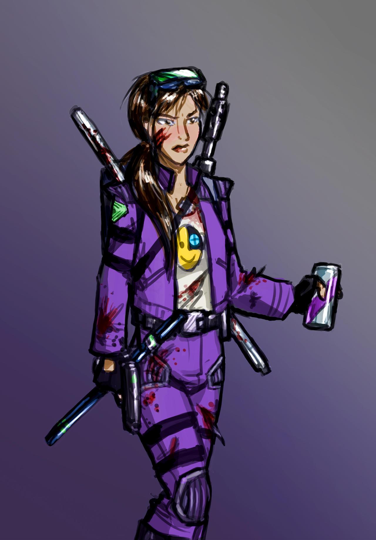 System Shock's Hacker - as a woman by DeepChrome
