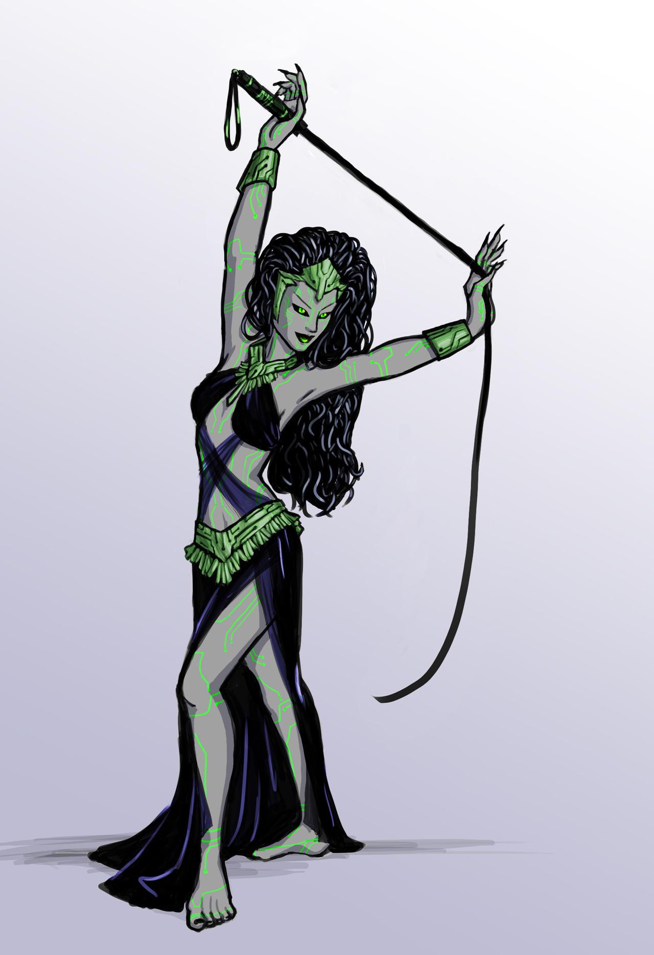 SHODAN...as a belly dancer by DeepChrome