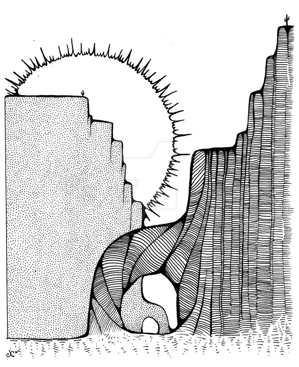Line Drawing Sunrise : Sunrise black and white by jaemenewton on deviantart