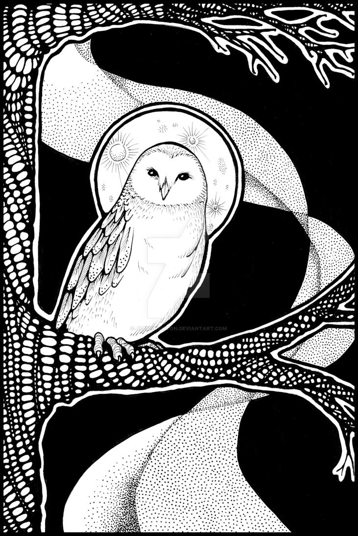 Moon Folk Owl by JaemeNewton