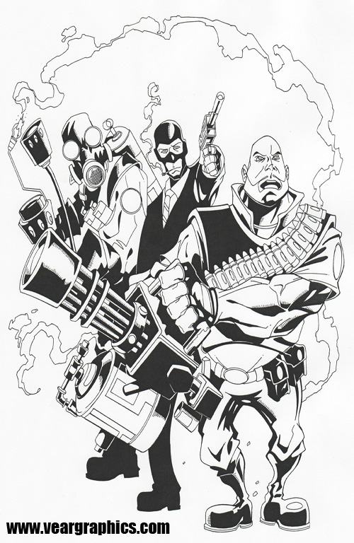 Team fortress 2 by erockalipse on deviantart for Team fortress 2 coloring pages