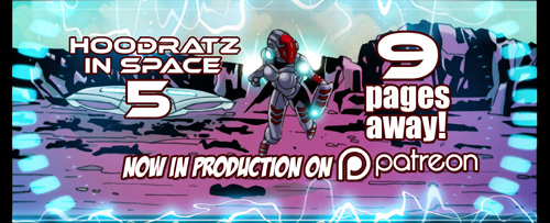 HOODRATZ IN SPACE issue #5 is only 9 pages away! by erockalipse