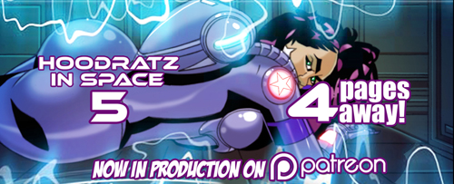 HOODRATZ IN SPACE issue #5 is only 4 pages away! by erockalipse