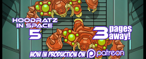 HOODRATZ IN SPACE issue #5 is only 3 pages away! by erockalipse