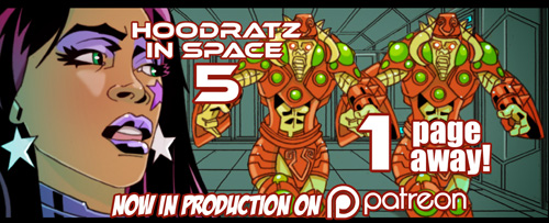 HOODRATZ IN SPACE issue #5 is only 1 pages away! by erockalipse