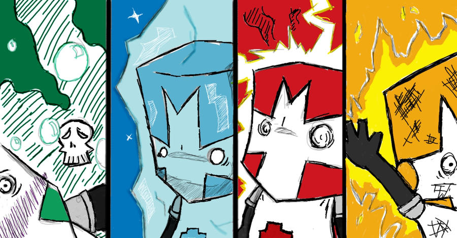 Castle Crashers Magic Backfire By Obliviousremembrance On