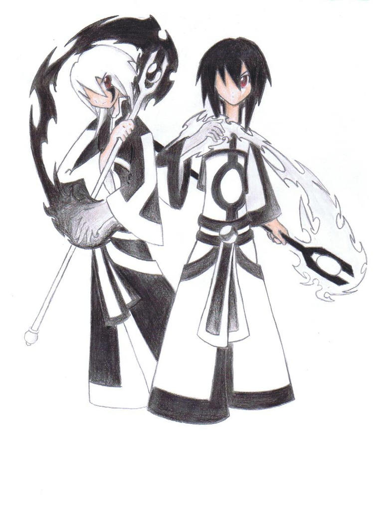 Yin-Yang Twins by thecucuyo on DeviantArt