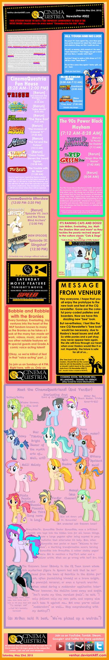 CinemaQuestria Newsletter Volume 2: May 23rd 2015 by VenHur
