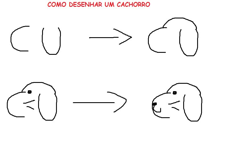 Como Desenhar Cachorro Passo A Passo
