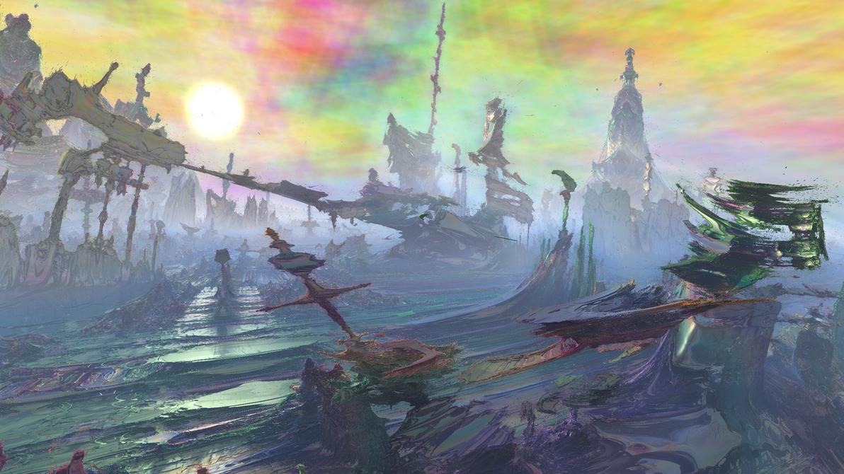 Valhalla after Ragnarok: Ruins of Asgard by Paigan0