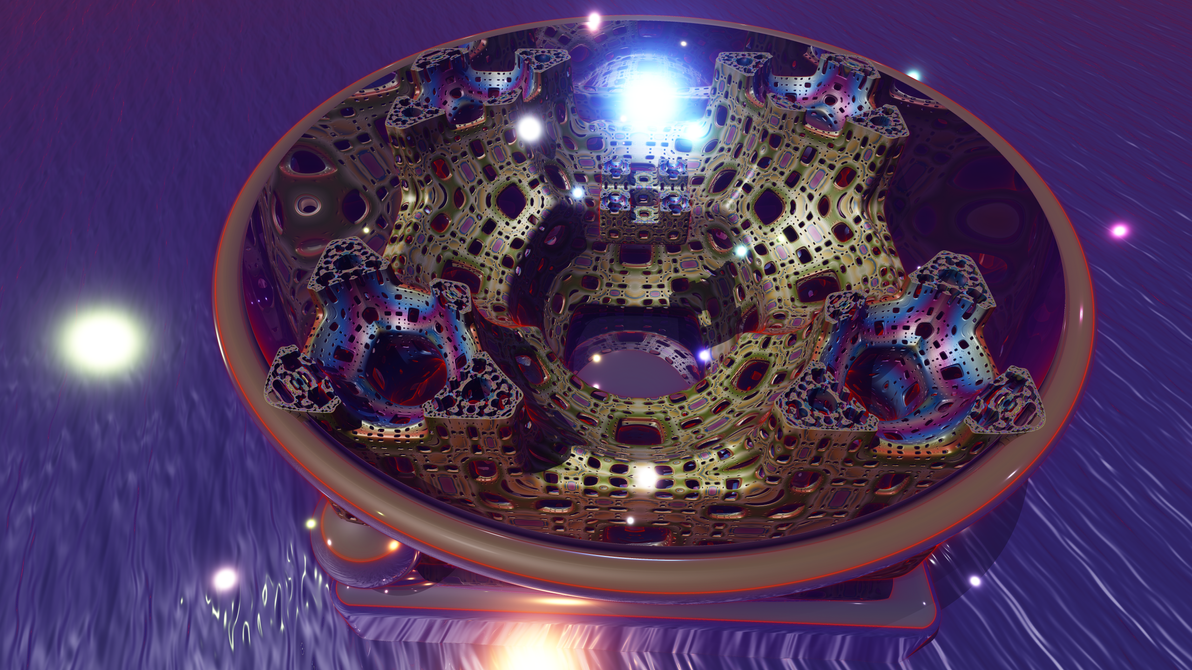 Fractal Theater in the Round: Menger Smooth 1 (8K) by Paigan0
