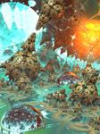 Savage Gardens of Klein II (Mandelbulber)