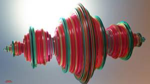 Green-to-Red Glass Quaternion (MC Render)