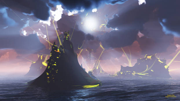 Dawn over Lava Lightning Isle (8K)