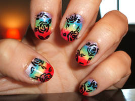 Rainbow Roses by lettym