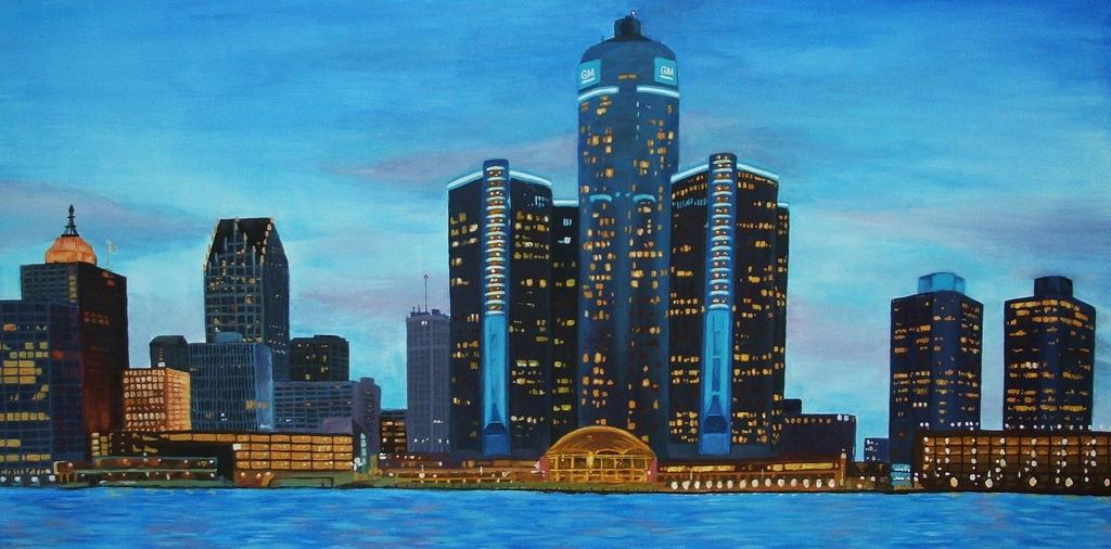 Detroit skyline by lettym