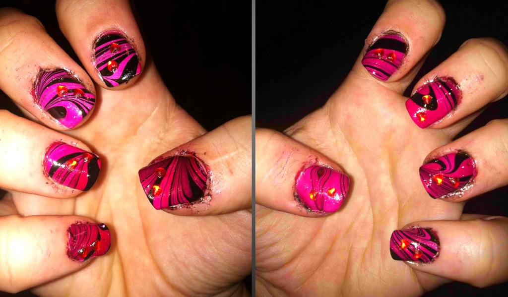 Sister's water marble by lettym
