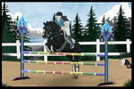 NAR Memorial Show: Red Show Jumping by cryionxx