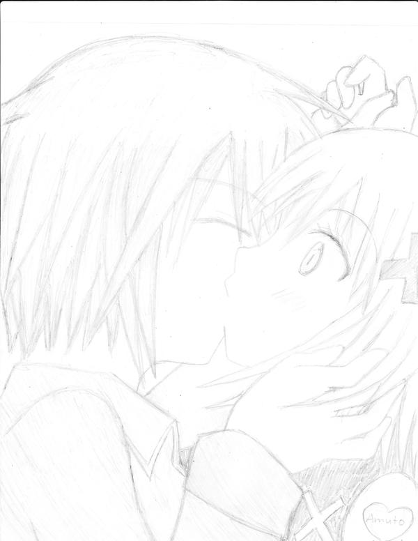 Ikuto And Amu Kiss Scene Amu Ikuto Kiss by Iownikuto