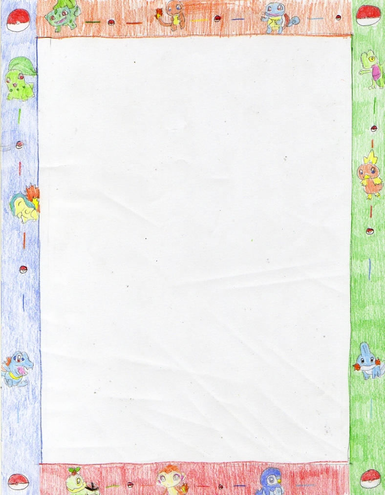 lined writing paper with blank border