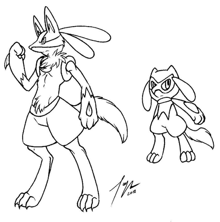 Free male lucario lineart ms paint by kittygomou on deviantart for Pokemon coloring pages lucario