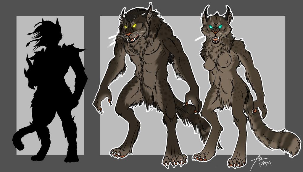 Physicalities of Werewolves-The Khajiit by kittygomou on DeviantArt